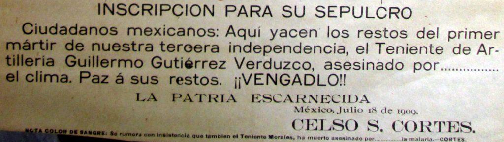 """""""El primer mártir de nuestra tercera independencia""""."""