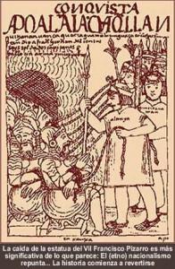 Dibujo de Guamán Poma de Ayala. Etnocacerismo